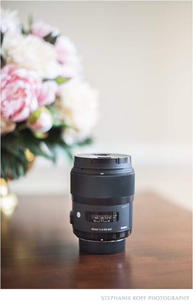 virginia wedding and portrait photography lens line up sigma 35mm 1.4 stephanie kopf photography
