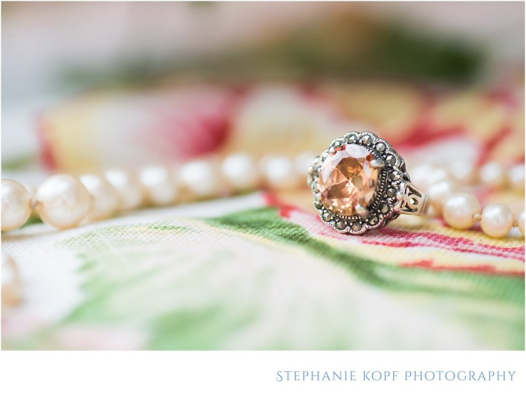 Stephanie kopf photography ring shot vintage pink green northern virginia wedding photography