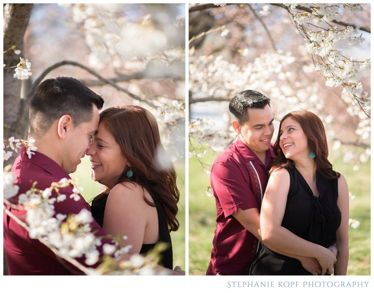 Stephanie Kopf Photography engagement photography virginia maryland washington DC photography engagement wedding cherry blossoms spring flowers georgetown