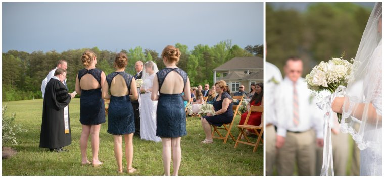 Stephanie kopf photography Virginia wedding photographer country wedding DIY blue yellow pink lace dress cream bouquet spotsyvania photography love navy first look backyard buttercups
