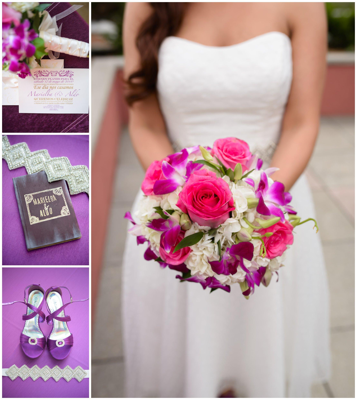 Stephanie-Kopf-Photography-Wedding-Portrait-Photographer-Arlington-Virginia-Purple-Pink-Short-Dress-Washington-DC-Overlook-Washington-Monument-Romantic-Initimate-Wedding